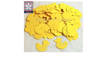 Yellow Duck Confetti, Rubber Duck Baby Shower Confetti, Envelope Filler, Ducky Confetti, Duck Diecut Cardstock, Duck Embellishment, 200 Ct.