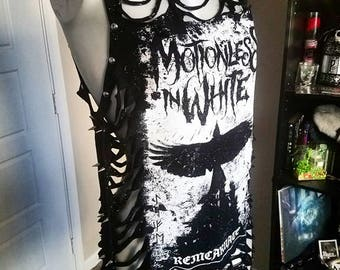 Motionless In White Slashed & Spiked Tank