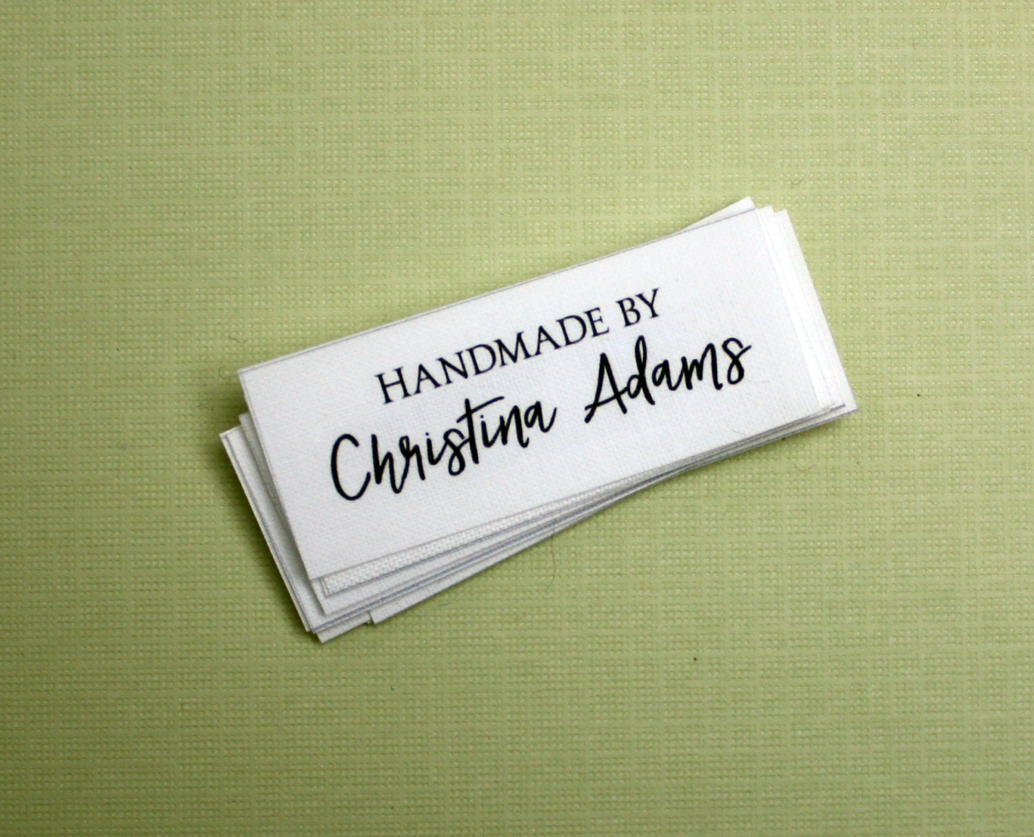 Knitting Labels Personalized : Fabric tags personalized sewing labels quilt