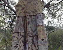 Boho hippie wedding dress // ooak // size large