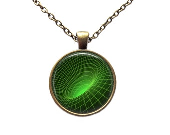 Wormhole pendant Galaxy jewelry Astronomy necklace