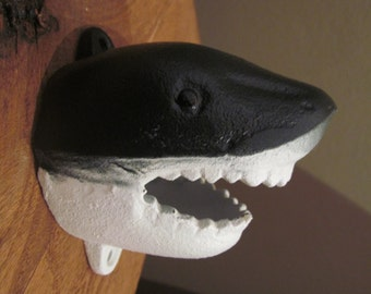 Shark Head Cast Iron Wall Mounted beer bottle opener