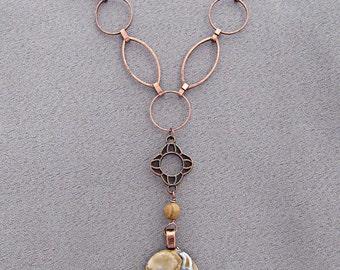 Peanut Jasper Pendant Necklace/Gift for Her