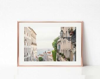 Portugal Wall Prints, Travel Art Decor, Lisbon Photography, Art Prints, Pastel Decor, Tagus River