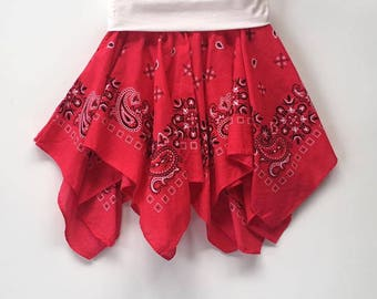 Red Bandana Skirt