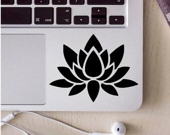 lotus flower sticker, laptop skin, laptop decal, laptop sticker, lotus decal, lotus flower, computer sticker, vinyl decal, computer decals