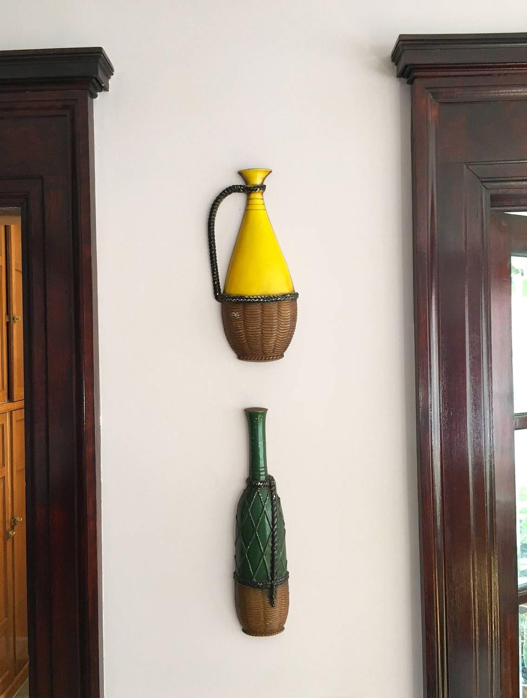 Vintage wall art wall decor wine decor bar decor wine bottle for Wall decor wine bottles