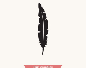 Feathers PNG, SVG and DXF Files - tribal, ethnic, boho, Clipart, Vector, Instant Download