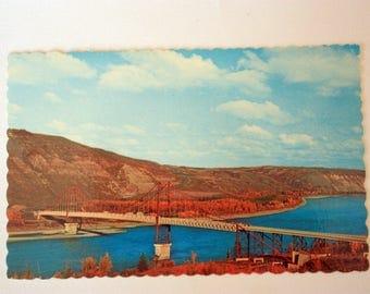 Dunvegan Bridge Peace River  / vintage Peace River Alberta / Vintage Bridge Postcard / Alberta Postcard / Canada Postcard