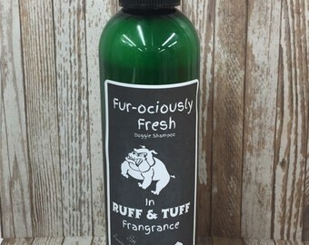 Dog Shampoo Our Fur-rociously fresh comes in 4 great frangrances