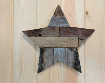 14 inch Barn Wood Star, Reclaimed, Barn Wood