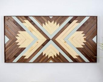wood wall art wooden wall art geometric wood art wooden. Black Bedroom Furniture Sets. Home Design Ideas