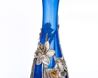 "Silver and crystal vase ""Narcissus"""