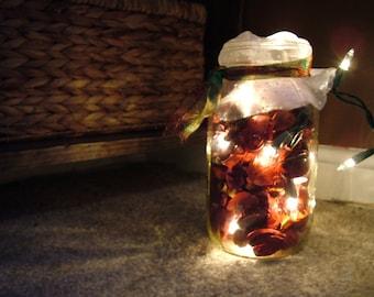Christmas Light Potpourri Mason Jar