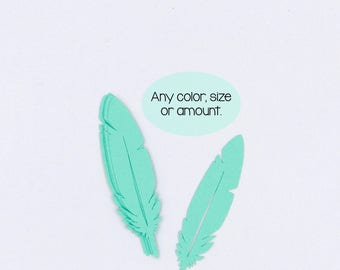 Feather Die Cut Out, Boho Die Cuts, Custom Die Cut, Any Color Size Or Amount