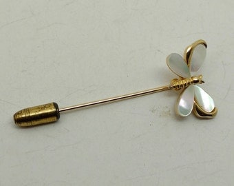 Vintage Mother of Pearl Butterfly Stick Pin