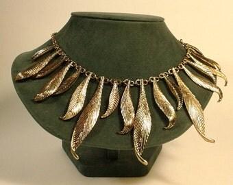 Fringe Necklace, Statement Necklace, Artisan Jewelry, Unique, Bib Necklace