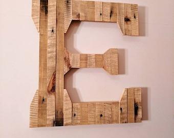 Pallet Wood Letter E