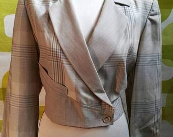 Vintage jacket, 80, Prince of Wales jacket vintage, made in italy