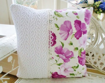 Cushion cover shabby poppies
