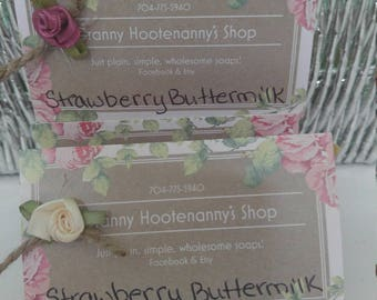 STRAWBERRY BUTTERMILK SOAP
