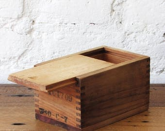 Wood Crate With Lid Etsy