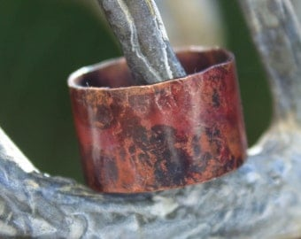 Simply Copper - A simple handmade copper ring.