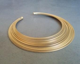 Wedding Necklace, Strand Necklace, Bridal Necklace, Gold Collar Necklace, Bridal Jewelry, Gold Necklace, Collar Necklace, Statement Necklace