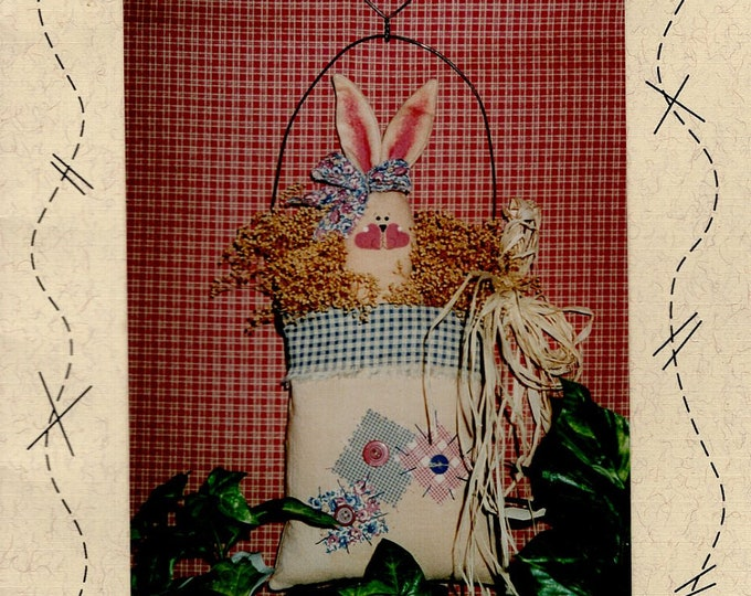 Down Memory Lane #36 Doll Holiday Bunny Rabbit Floppy Ears Craft Sewing Pattern Free Us Ship Patriotic Bunny In Bag Easter Uncut 1990's