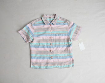 pastel blouse   southwestern blouse   90s collared blouse