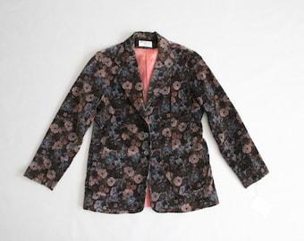 floral velvet blazer | floral jacket | velvet jacket