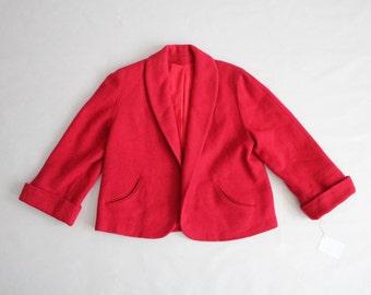 pink wool coat | 50s jacket | cropped coat