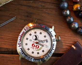 Vintage Boctok, Wostok Komandirskie mens watch, gold plated russian watch, soviet mens watch, retro watch, cccp ussr, vintage russian watch