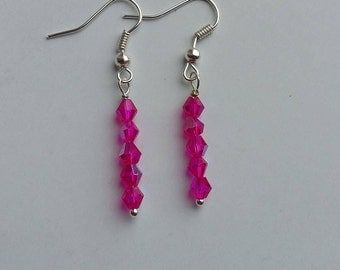 Bright Fushia Pink Earrings