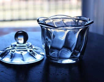 Anchor Hocking Glass Sugar Bowl with Lid
