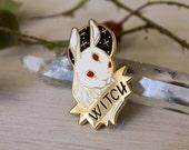 White Witch Hard Enamel Pin
