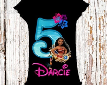 Moana Birthday Shirt - Moana Shirt - Choose Style