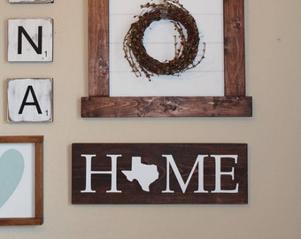 Home State Wood Sign, State Sign, Wedding Gift, Pick Your State Sign, New Home Gift, State Decor, Personalized Gift, Gallery Wall Decor