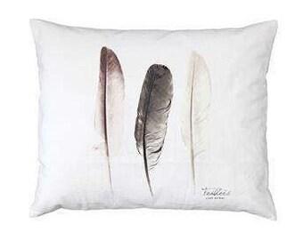 Lene Bjerre White Feather Design Cushion