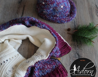 Crystal Winterberry Infinity Scarf and Hat