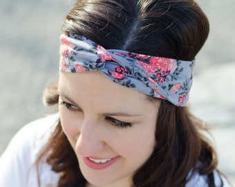 Turban Headband - Birthday Present for Her - Stretchy Headband - Turban Headwrap