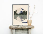 Yosemite National Park Poster - Travel Poster - National Park Travel Poster - Minimalist Poster – Home Décor – Wall Art - Art Print