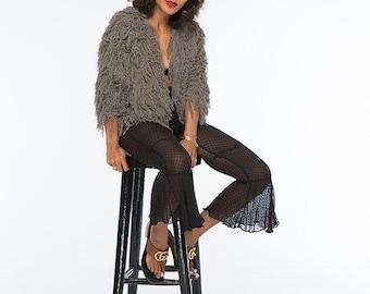 Women Fluffy Knitted Bolero