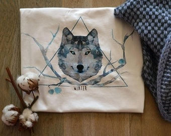 Winter Wolf - printed t-shirt