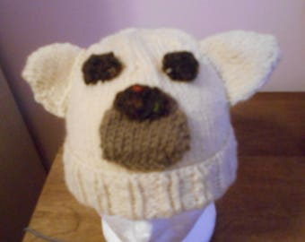 Cap for children with polar bear