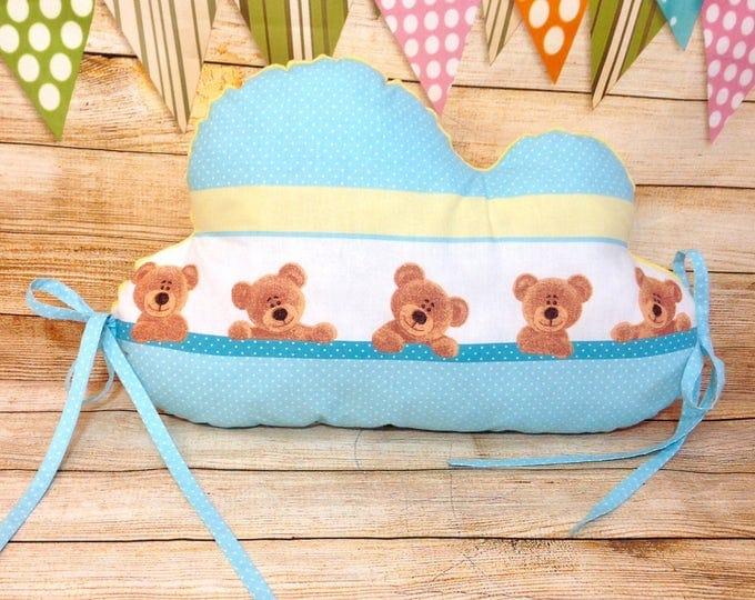 Cloud Pillow, Cloud Cushion, Minky, Crib Pillow, Baby Shower Gift, Nursery Pillow