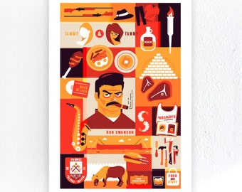"Ron Swanson Parks & Recreation 13"" x 19"" Poster - (Frame Not Included)"
