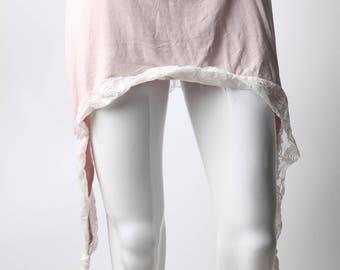 fairy skirt, pastel skirt, pink lace skirt, short pastel pink skirt, pastel pink skirt, festival skirt, asymetrical skirt, burning man skirt