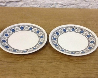 Vintage 1960's 2 X Biltons Finewhite Ironstone Side Plates Set - In Great Condition.