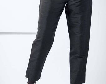 The slub silk trouser – Size 38